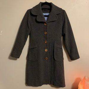 Propaganda dark grey wool & cashmere blend coat